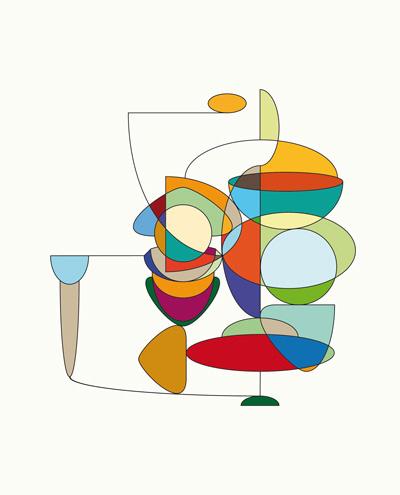 Een ingekleurde tekening als voorbeeld.
